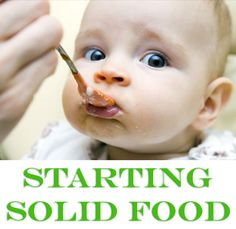 Tips for starting babies on solid food