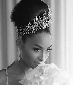 Such a glam, gorgeous bride! Her custom designed, bridal head piece and up do a. Headpiece Wedding, Bridal Headpieces, Wedding Bride, Black Wedding Hairstyles, Bride Hairstyles, Wedding Hair And Makeup, Wedding Hair Accessories, Hair Pieces, Marie