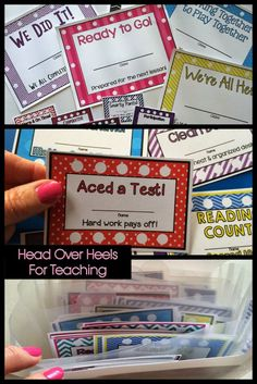 Punch Cards-motivate and reward your students with an incentive students can keep track of their own progress.