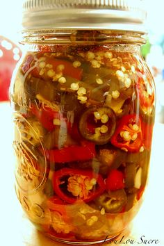 Sweet Candied Jalapeno Peppers (1) From: LouLou Sucre, please visit