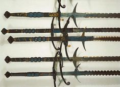 Ethnographic Arms & Armour - Flamberg Two-hand Swords, late 16th-Early-17th Century