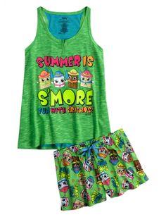 S'mores Pajama Set | Girls Pajamas & Robes Pjs, Bras & Panties | Shop Justice