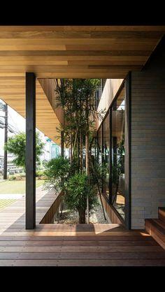 Hamada Design 5 is part of architecture - Hamada Design Photograph by Yohei Sasakura Biophilic Architecture, Villa Architecture, Office Building Architecture, Interior Design Gallery, Home Interior Design, Patio Interior, Interior And Exterior, Building Design, Building A House
