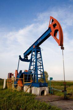 Oil Pumpjack in Texas field.