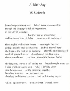 w s merwins translation of poem essay From gacela of the unforeseen love (ws merwin's translation): some poems, translations, essays, book reviews, etc lorca's green wind.