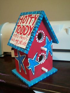 Ole Miss birdhouse Hotty Toddy