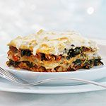 My favorite vegetarian lasagna. So flavorful, you don't even miss the meat.