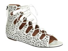 Alaïa flat strappy sandals in white Kid leather - Italian Boutique €810