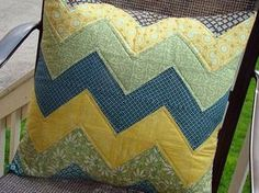half square triangles pillow