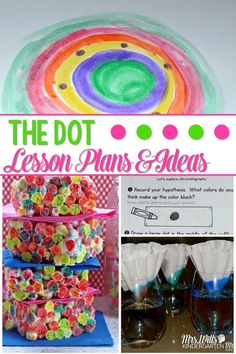 The Dot Lesson Plans: Fun classroom activities Fun Classroom Activities, Kindergarten Literacy, Book Activities, Classroom Tools, Preschool Classroom, Preschool Art, Literacy Centers, Classroom Ideas, The Dot Book