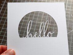 Stanz' die Hälfte:Man muss ja nicht immer alles auf einmal ausstanzen, manchmal reicht auch nur ein Teil der Stanze, um einen interessanten Effekt zu erzielen.Seht selbst: Ihr braucht Stanz- und Prägemaschine eine Text- oder Buchstabenstanze eine Kreis- oder Labelstanze Lineal, Bleistift und Radiergummi Cutter  Als erstes mittig auf der Karte einen horizontalen Bleistiftstrich ziehen: [...]