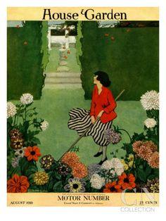 Ethel Franklin Betts Baines - House & Garden Cover - August 1916
