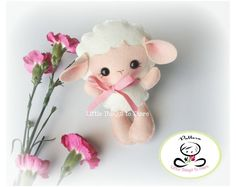 BABY SHEEP (PDF) This cute little friend is BABY SHEEP, perfect to be part of a cute baby mobile or as a present for anyone! Baby Sheep, Cute Sheep, Baby Koala, Sheep Farm, Nursery Patterns, Baby Patterns, Felt Crafts Patterns, Doll Patterns, Sewing Patterns