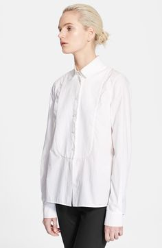 The white shirt  Stella McCartney Washed Cotton Poplin Shirt at Nordstrom.com.