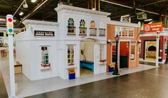 This large play city with lots of shops to visit was created by Lilliput Play Homes Playhouse Outdoor, Wooden Playhouse, Pretend City, Kids Night Out, Luxury Playhouses, Kids Backyard Playground, Tiny House Village, Kids Cafe, Magic House