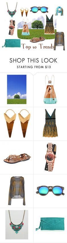 """Top 10 Trends"" by illuminatab ❤ liked on Polyvore featuring Theodora Warre, Miguelina, Diesel, I Blues Club, ZeroUV, Oasis, prAna and goals"