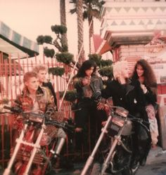 The Lost Boys behind the scenes at The Boardwalk Entance No 3 by the Carousel