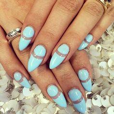 Pastel blue ring nails #laque #laquenailbar #getlaqued by laquenailbar http://ift.tt/1kAHzNq