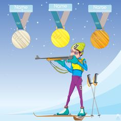 Illustration on the theme of the Winter Olympic Games in Korea. #biathlon #sport #Olympic_Games #Korea2018 #vetal_art #art #artist #illustration #digital #comic #cg #cartoon #sketch #fun_art #character