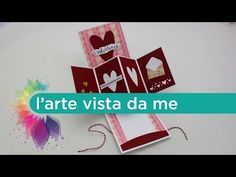 Twist card Pop up Tutorial - Biglietto di auguri San Valentino - YouTube