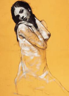 Alex Kneeling by Mark Demsteader. Massive range of art prints, posters & canvases. Mark Demsteader, Figure Painting, Figure Drawing, Framing Canvas Art, Contemporary Art Prints, Portraits, Mellow Yellow, Life Drawing, Artist At Work