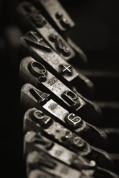 And... Old Typewriter Keys.......Love The Sound And The Bell At The End.......