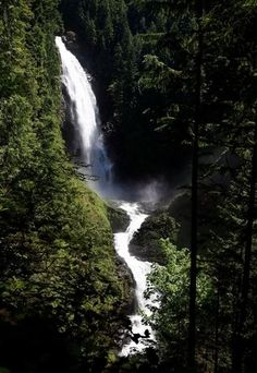 There are three waterfalls at Wallace Falls State Park, measuring 367, 240 and 212 feet. An up-close look at the main falls requires a 3½-mile round-trip hike.