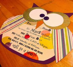 Night Owl Slumber Party Invite....maybe for a VBS Under the Stars lock-in for older kids?!