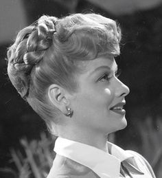 Lucille Ball- love her hair up do