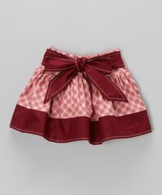 Take a look at this Bordeaux & Pink Vintage Cowgirl Skirt - Infant, Toddler & Girls on zulily today!