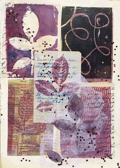 265b.gelli print collage