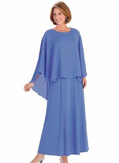 Caplet Gown from www.amerimark.com. #choirdress #womensdress #formaldress Choir Dresses, Dressy Dresses, Bridesmaid Dresses, Wedding Dresses, Daughters, Cold Shoulder Dress, Gowns, Clothes For Women, My Style