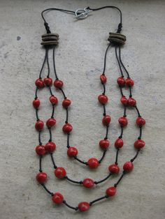 Etsy - Shop for handmade, vintage, custom, and unique gifts for everyone Tassel Jewelry, Ethnic Jewelry, Beaded Jewelry, Diy Necklace, Tassel Necklace, Flamboyant, Diy Collier, Beaded Necklace Patterns, Natural Jewelry