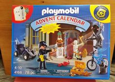 Playmobil 4168 Police Advent Calendar Detective Motion Detector Wind Up Police C #PLAYMOBIL