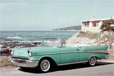 1957 Chevrolet Bel Air just give me those keys and I'm gone !!! Love that color !