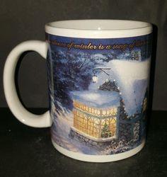 Thomas Kinkade Silent Night Painter of Light  Coffee Mug Cup 12 Oz