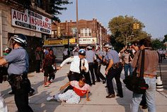 In this Aug. 1991 photo, New York City police scuffle Brooklyn New York, New York City, Police Crime, Crown Heights, 7 Year Olds, America, Monday Night, Pictures, Bing Images
