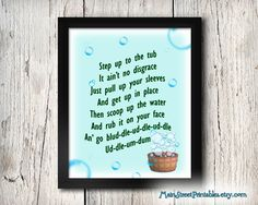 The Washing Song Seven Dwarfs Snow White by MainStreetPrintables