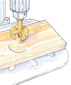 How to Test Drill Press for Squareness with Scrap MDF and Forstner Bit