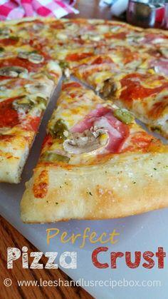 Leesh & Lu's Recipe Box: Our Favorite Pizza Dough & The Perfect Pizza Crust {Pizza Series #2 of 4}