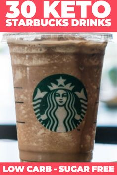 Top 30 Keto Starbucks Drinks: How To Order Keto At Starbucks. If you're following a ketogenic or low carb diet & here's how to keep it Keto at Starbucks! 30 Keto Starbucks drinks: hot & iced! We're talking low carb iced coffees, lattes, keto Starbucks chai tea & Keto frappuccinos plus keto-friendly Starbucks drinks from the secret menu that will blow you away! #keto #ketodrinks #lowcarb #sugarfree #Starbucks