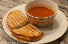 Adventurous Tastes: Cold Weather Comfort Food: Homemade Tomato Soup and Grilled Cheese