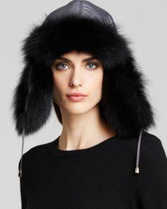 Maximilian Fox Fur Trim Trooper Hat | Bloomingdales's