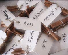 Cute And Easy Christmas Decoration Ideas Gift Tags Cinnamon Sticks