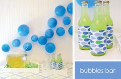 I like the balloons on the walls as decoration. So simple, but darling!