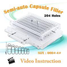 CN204S Semi Automatic capsule filling machine manual capsule filler size 000 - 4 #Affiliate
