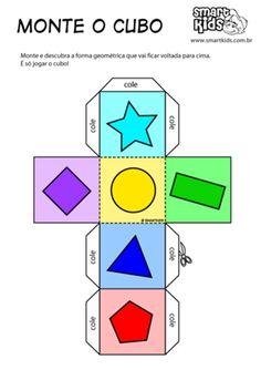 Atividade Formas Geométricas Monte Palhaço - Atividades Bingo, Logos, Games, School, Study, Kids Activity Ideas, Form Design, Geometric Fashion, Game Workshop