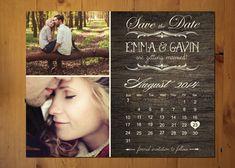 Save The Date Magnet or Card . Vintage Calendar op Etsy, 22,70€