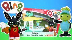 Bing Bunny Gilly's Ice cream Van Toy Unboxing BBC Cbeebies TV | Kids Pla...