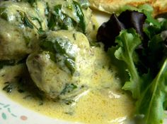 Greek Style Lemon Meatballs. This gives the recipe for the sauce only but it sounds delicious.